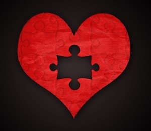 Heart with missing piece