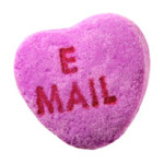 Candy heart - email me