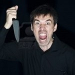 Crazy person with a knife